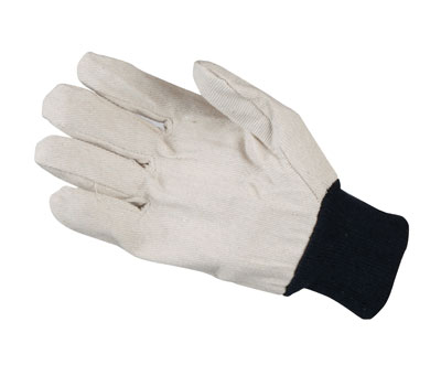 Cotton drill knit mens glove