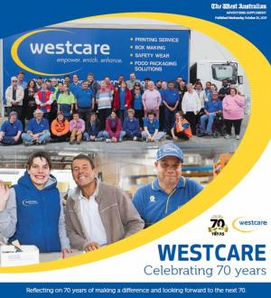 Westcare's 70 Year Anniversary Pullout Cover
