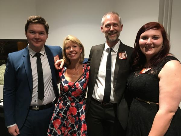 2016 PICA Awards - Jay Brown, Wendy & Andrew Larter & Caitlin Iles